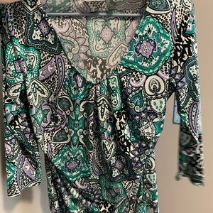 New York & Company Tops - New York and Company patterned, vibrant blouse